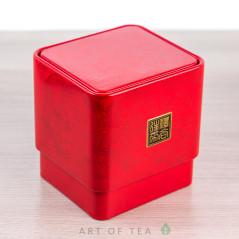 Баночка для чая Дракон, красная, 6*6,5*7 см