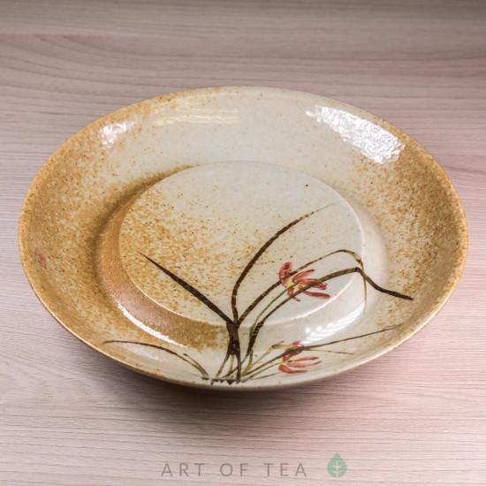 Чайный пруд Лилия, ручная роспись, 17 см