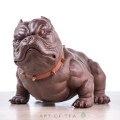 Фигурка Питбуль, исинская глина, 14 см