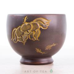 Пиала Цветок лотоса 691, циньчжоуская керамика, 80 мл
