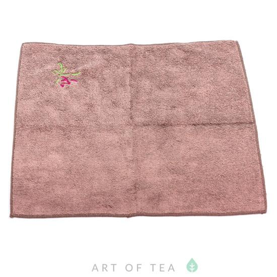 Чайное полотенце Чай, коричневое, 30*30 см