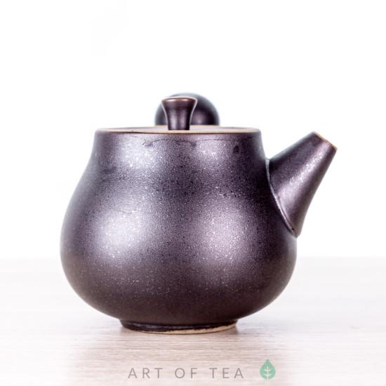 Чайник с боковой ручкой, чёрный, керамика Дэхуа, 70 мл