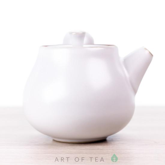 Чайник с боковой ручкой, белый, керамика Дэхуа, 70 мл