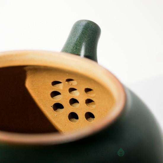 Чайник Изумрудный, глина, глазурь, 260 мл