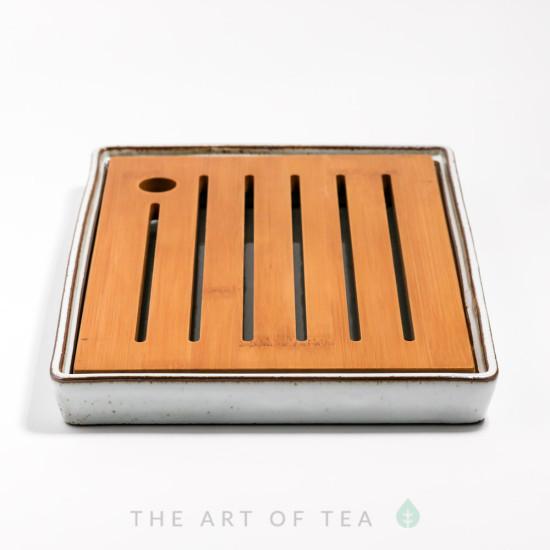 Чабань, керамика, бамбук, светлая, 19,5*26 см