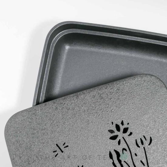 Чабань Черный Квадрат, керамика, 28*28 см