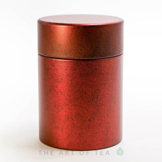 Баночка для чая Красная, жесть, 5,5*8 см