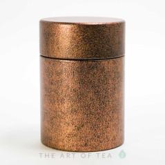 Баночка для чая Золотистая, жесть, 5,5*8 см
