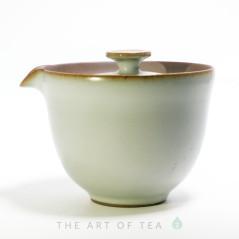 Гайвань-чайник, Тайваньский стиль, Жу Яо, белая, 205 мл