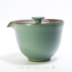 Гайвань-чайник, Тайваньский стиль, Жу Яо, бирюзовая, 205 мл