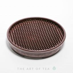Подставка под чайник, пластик, коричневая