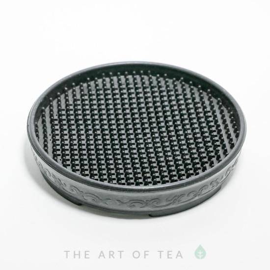 Подставка под чайник, пластик, черная