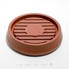 Подставка под чайник Чай, красная, глина