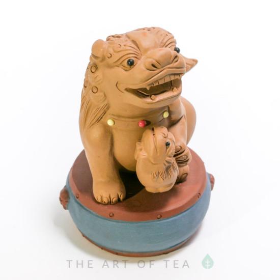 Чайная фигурка Лев 1, глина