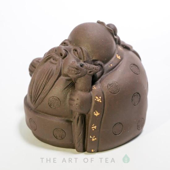 Чайная фигурка Монах с посохом, глина