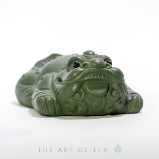 Чайная фигурка Зеленый Дракон, глина