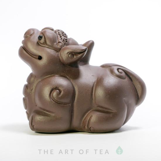 Чайная фигурка Добродушный Пи Сю, глина