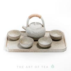 Набор для чайной церемонии s27, керамика, глазурь, белый