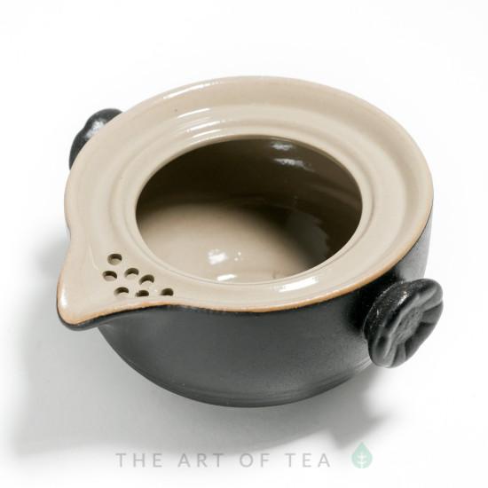Гавань-чайник с пиалами, портативный набор, черный, 190 мл