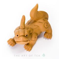 Чайная фигурка С хвостом, желтая, глина