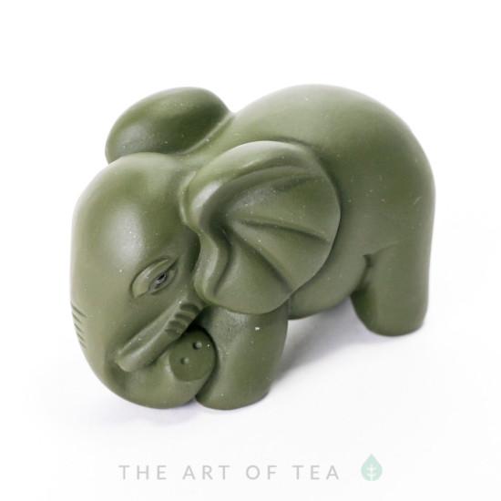 Чайная фигурка Зеленый Слон, глина