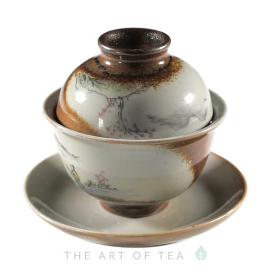 Набор посуды S54, ручная роспись, 7 предметов