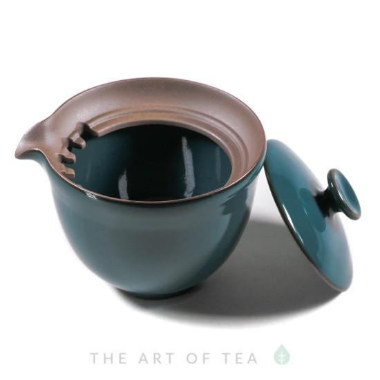 Гайвань-чайник, Тайваньский Стиль, циан, 200 мл