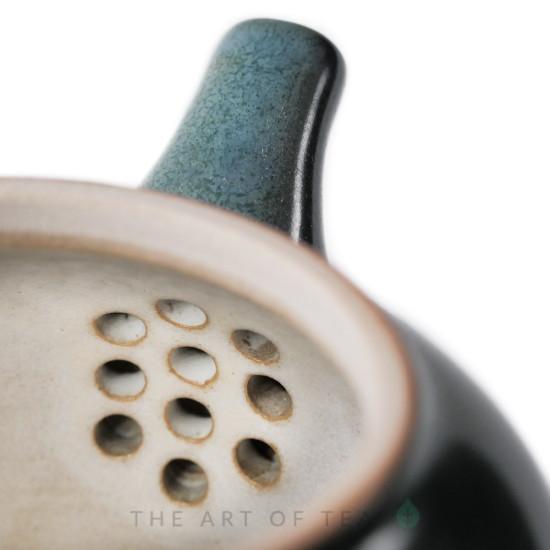 Чайник к100, глина, бирюзовый, 230 мл