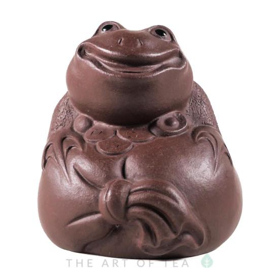 Фигурка Лягушка на мешке 201, глина, 7 см