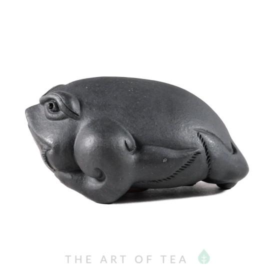 Фигурка Жаба черная 200, глина, 9 см