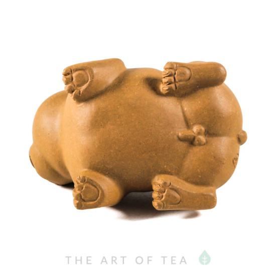 Фигурка Собака 202, жёлтая глина, 7,5 см