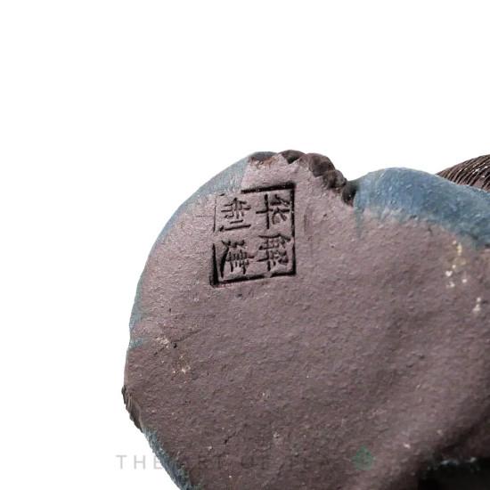 Фигурка Обезьянка 210, глина, синяя 5 см
