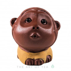Фигурка Обезьянка 209, глина, жёлтая 5 см