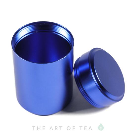 Баночка алюминиевая, синяя, 4,5*7 см