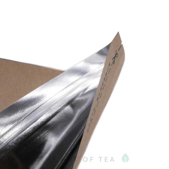 Пакет зип под блин пуэра, черный, крафт-фольга, 24*25 см