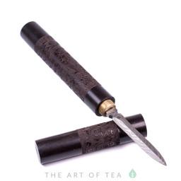 Нож для пуэра Дракон и Феникс, темное дерево