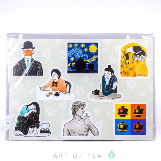 Набор стикеров (стикерпак) Art of Tea