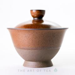 """Гайвань """"Древность"""", золотая, керамика, глазурь, 170 мл"""