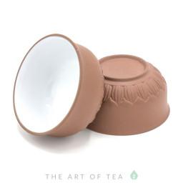 Пиала глина-глазурь, коричневая, 50 мл