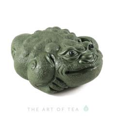 Фигурка Зеленая жаба 159, глина