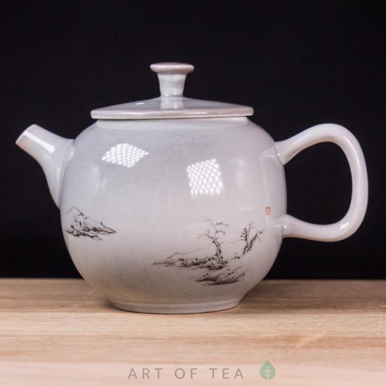 Чайник 155, керамика, ручная роспись, 150 мл