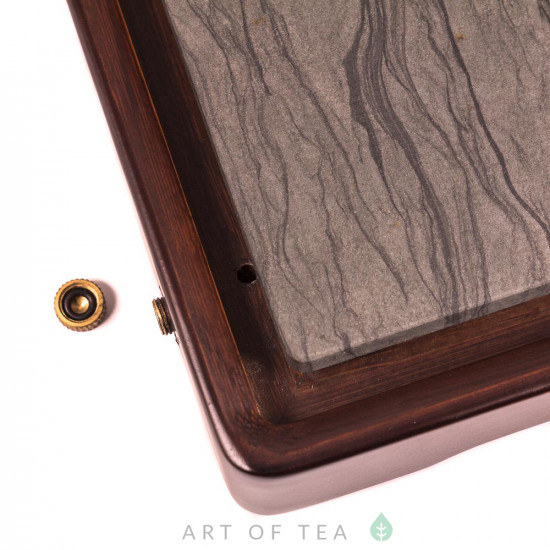 Чабань Лотосы, дерево, камень, 37,5*20 см