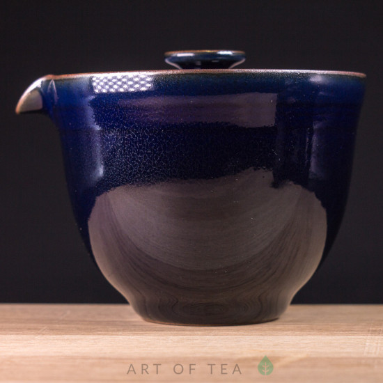 Гайвань-чайник, Тайваньский Стиль, тёмно-синий, 200 мл
