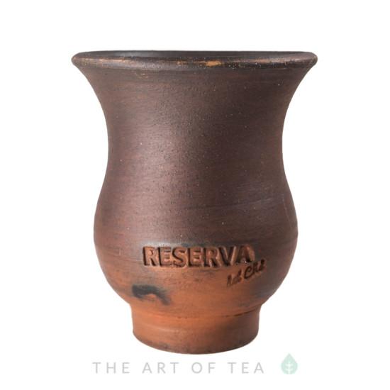 Калабас для мате, глина, с широким горлом